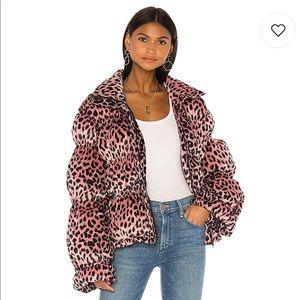 REVOLVE- LPA Sora Jacket in Pink Leopard